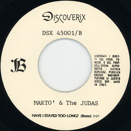 marto and the judas lp lost and found label 2 of the single